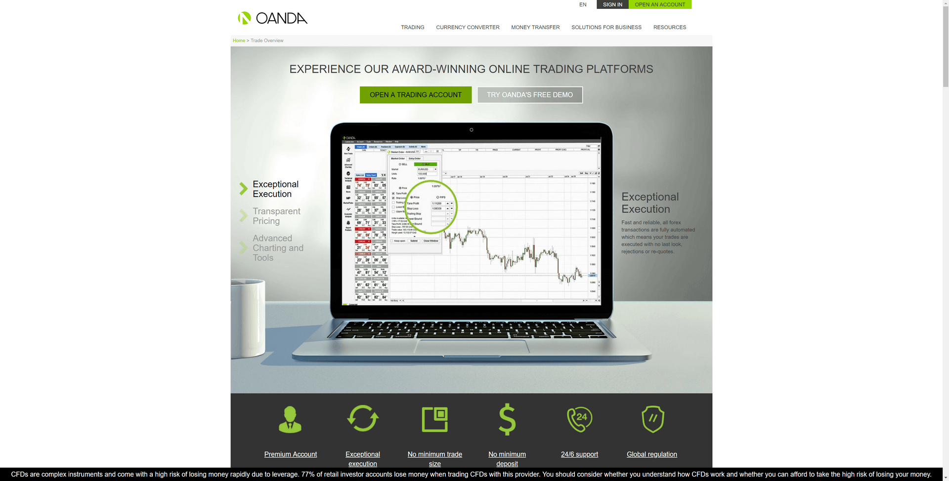 OANDA Screenshot
