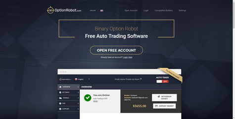 OptionRobot.com Screenshot